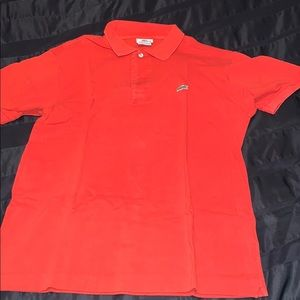 Lacoste polo sz 5/large in red